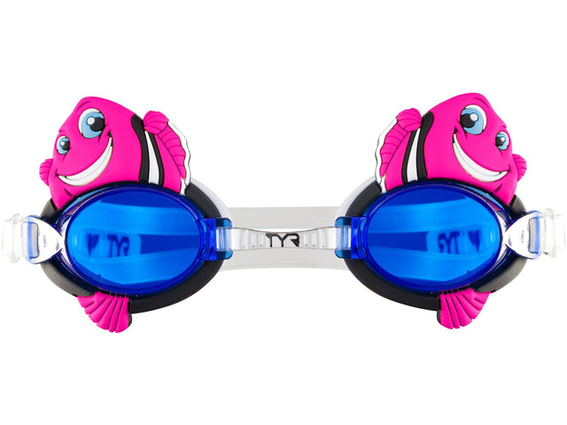 TYR Charactyrs Happy Fish Goggles Kids fluo pink